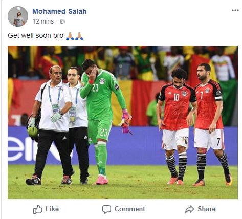 تدوينة محمد صلاح