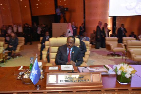 رئيس جمهورية الصومال فى القمة العربية بالسعودية