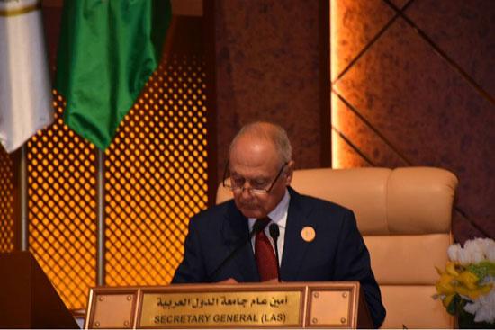 الأمين العام للجامعة العربية خلال القمة العربية بالسعودية