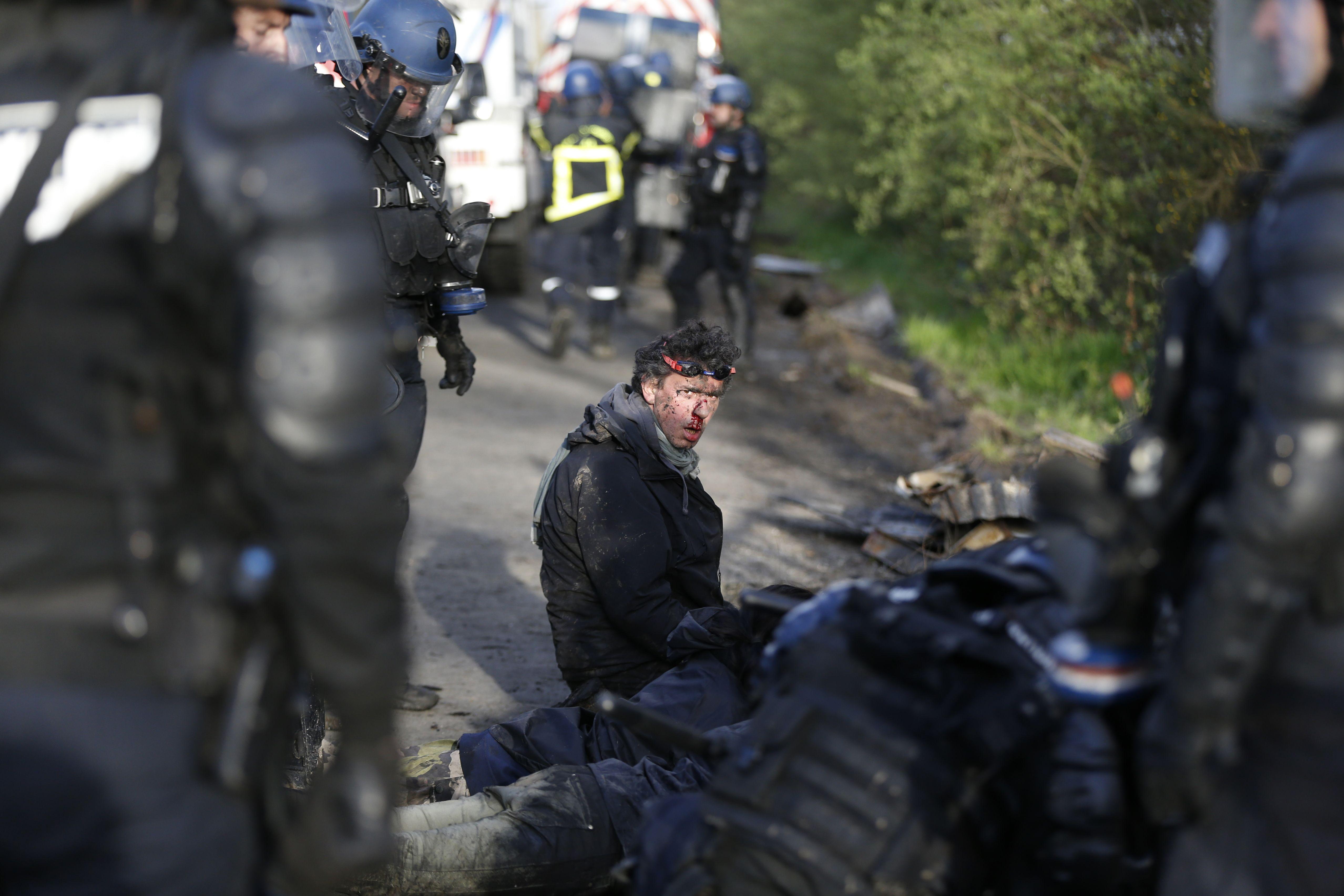 أحد المعتقلين فى فرنسا