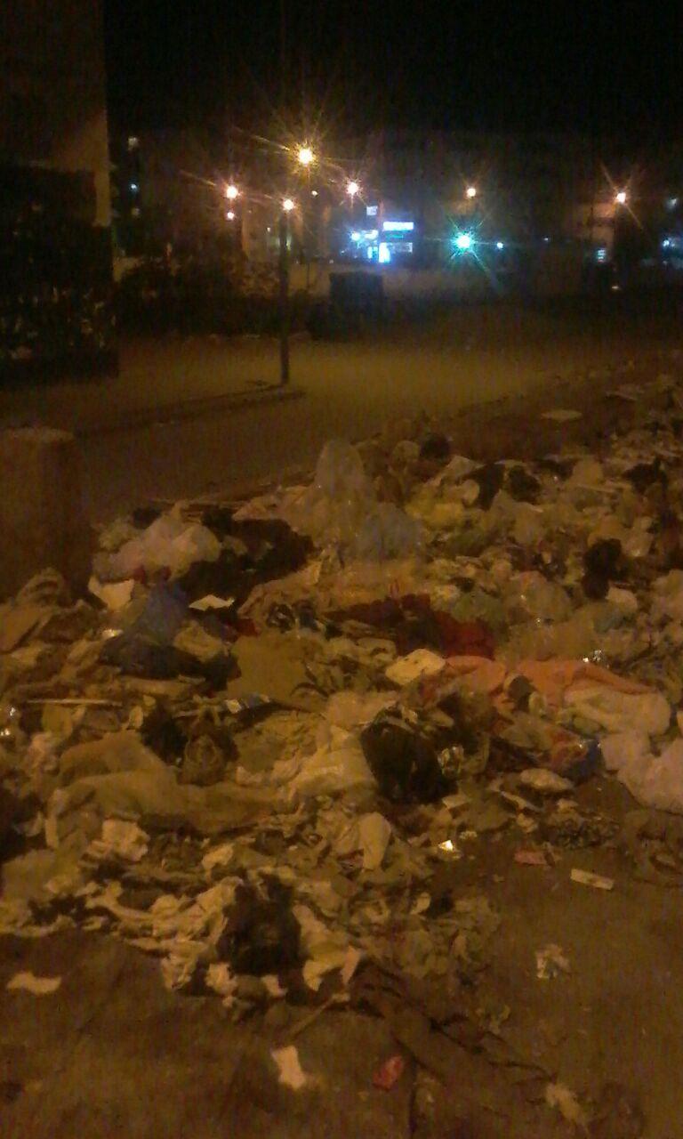 انتشار القمامة بشارع المحمودية