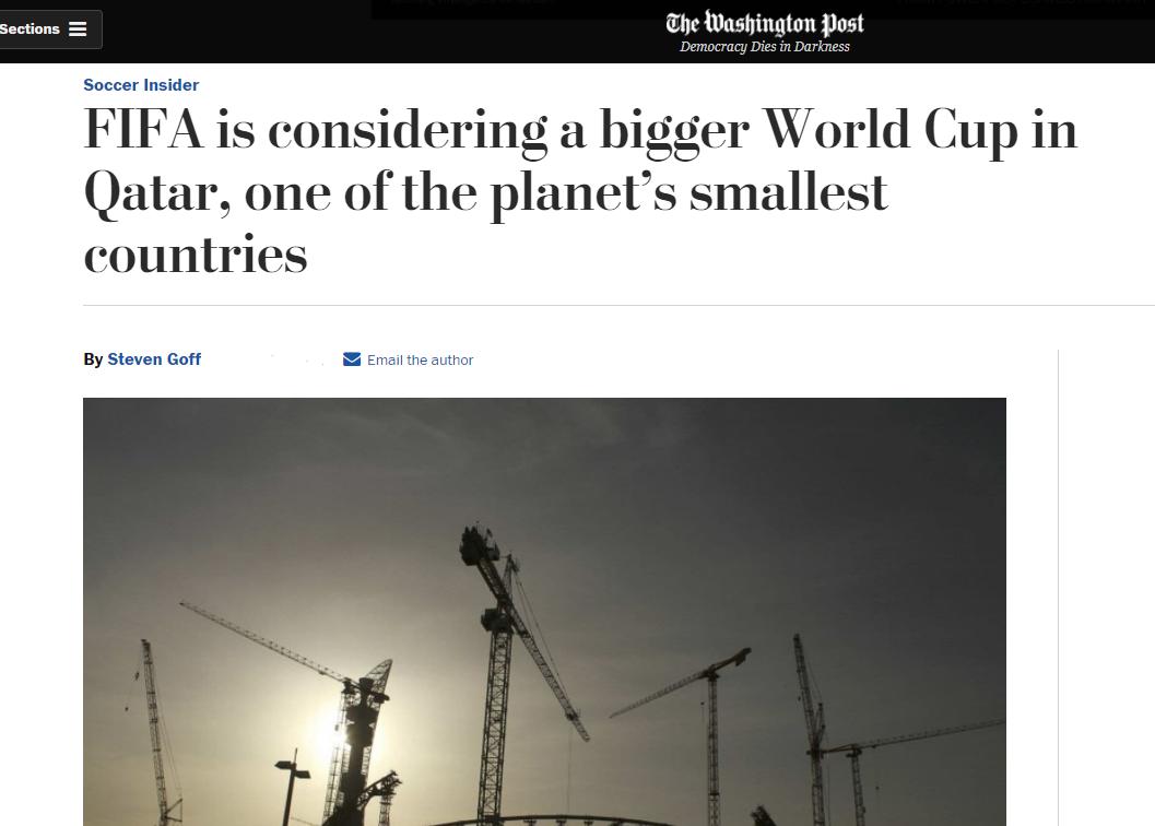 خبر واشنطن بوست عن كأس العالم