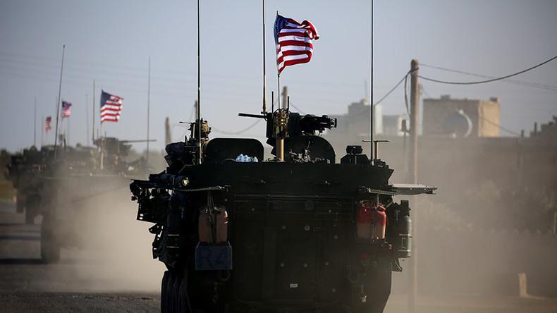 قوات امريكية فى مدينة منبج شمال سوريا
