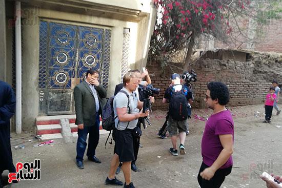 التليفزيون الروسى يوثق رحلة كفاح محمد صلاح بمسقط رأسه بالغربية (17)