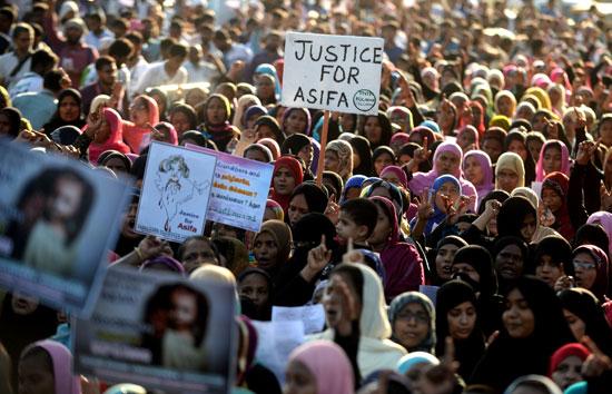 جانب من مظاهرات الهند ضد الاغتصاب