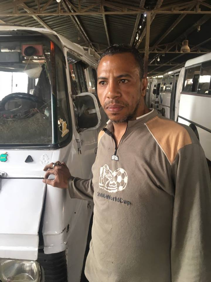 محمد فوزى سائق على خط رمسيس
