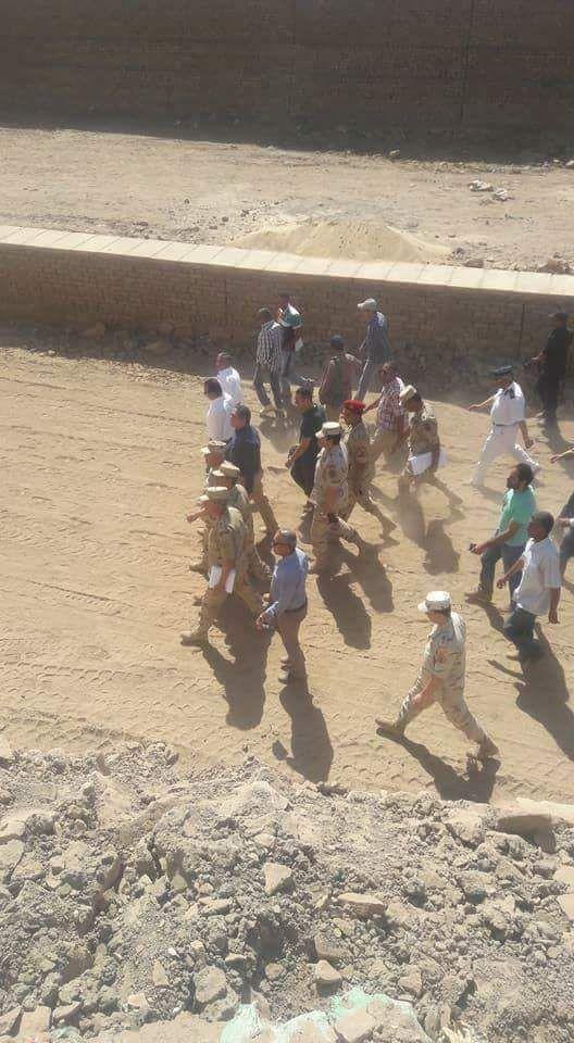 جانب من الزيارة لطريق الكباش ومعبد الاقصر قبل إحتفالات يوم التراث العالمي