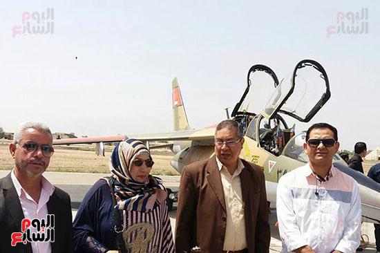 طلائع الدقهلية يزورون القاعدة الجوية بمطار شاوة (3)