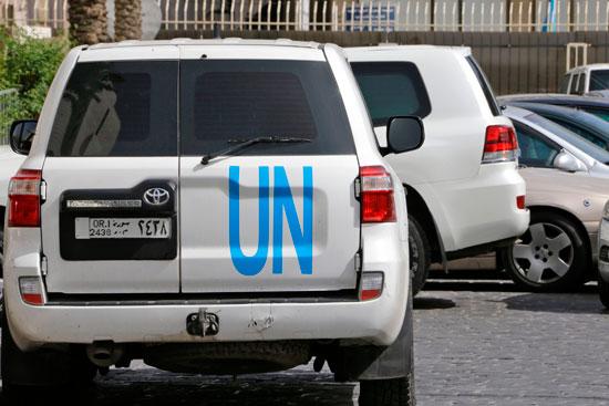 تواجد سيارات منظمة حظر الأسلحة