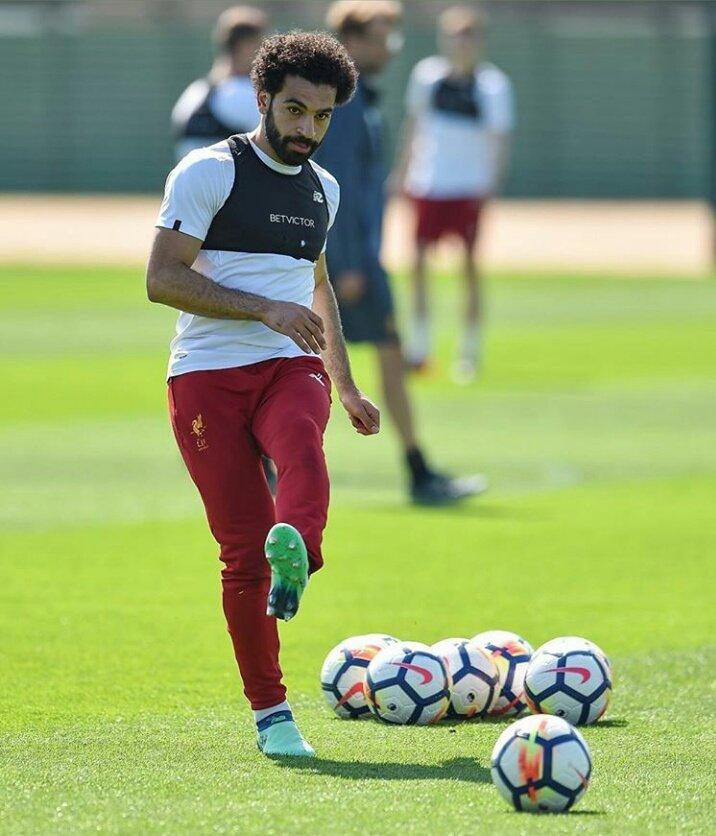 محمد صلاح فى تدريبات ليفربول