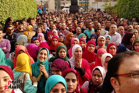 جامعة بنها تنظم احتفالية كبرى لفوز الرئيس السيسى (2)