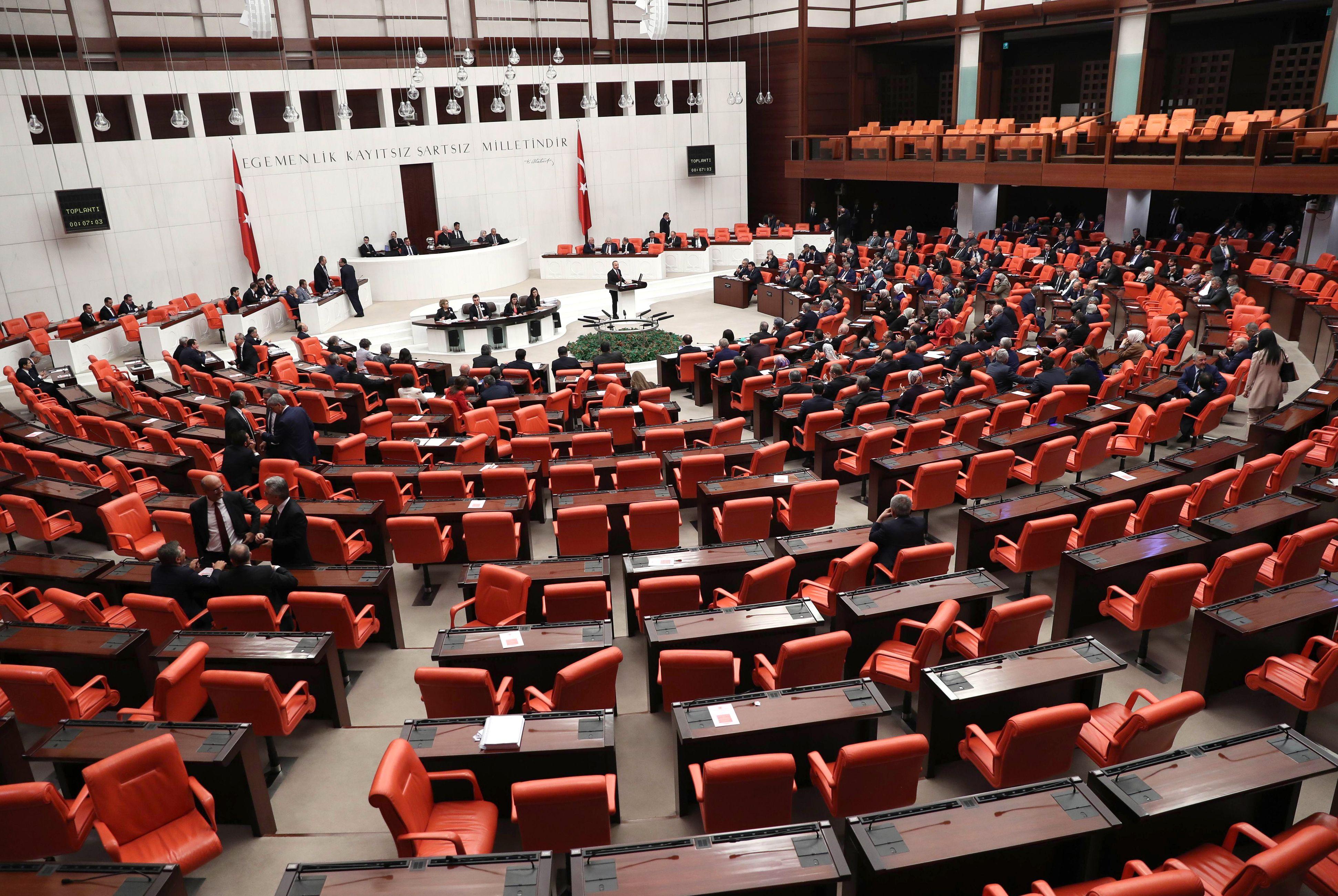 قاعات البرلمان التركي