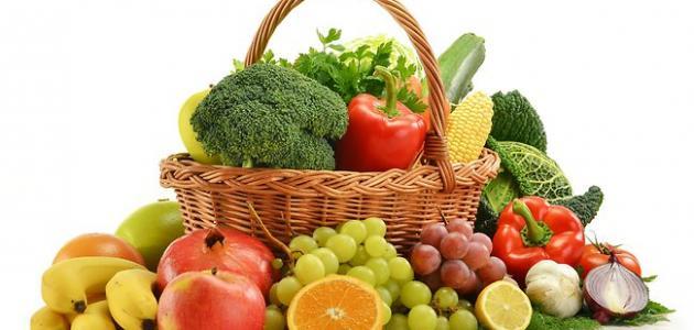 تنظيم الاكل بتناول الخضروات والفواكه