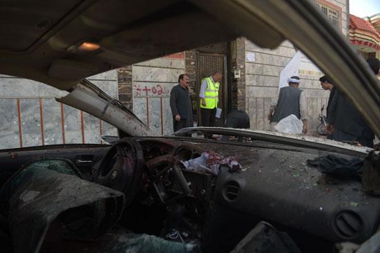 سيارة متفحمة إثر تفجير فى أفغانستان