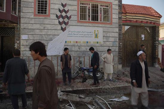 أثار حطام عقب تفجير فى أفغانستان