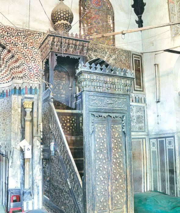 Картинки по запросу بكر مزهر منبر مسجد ابو بكر