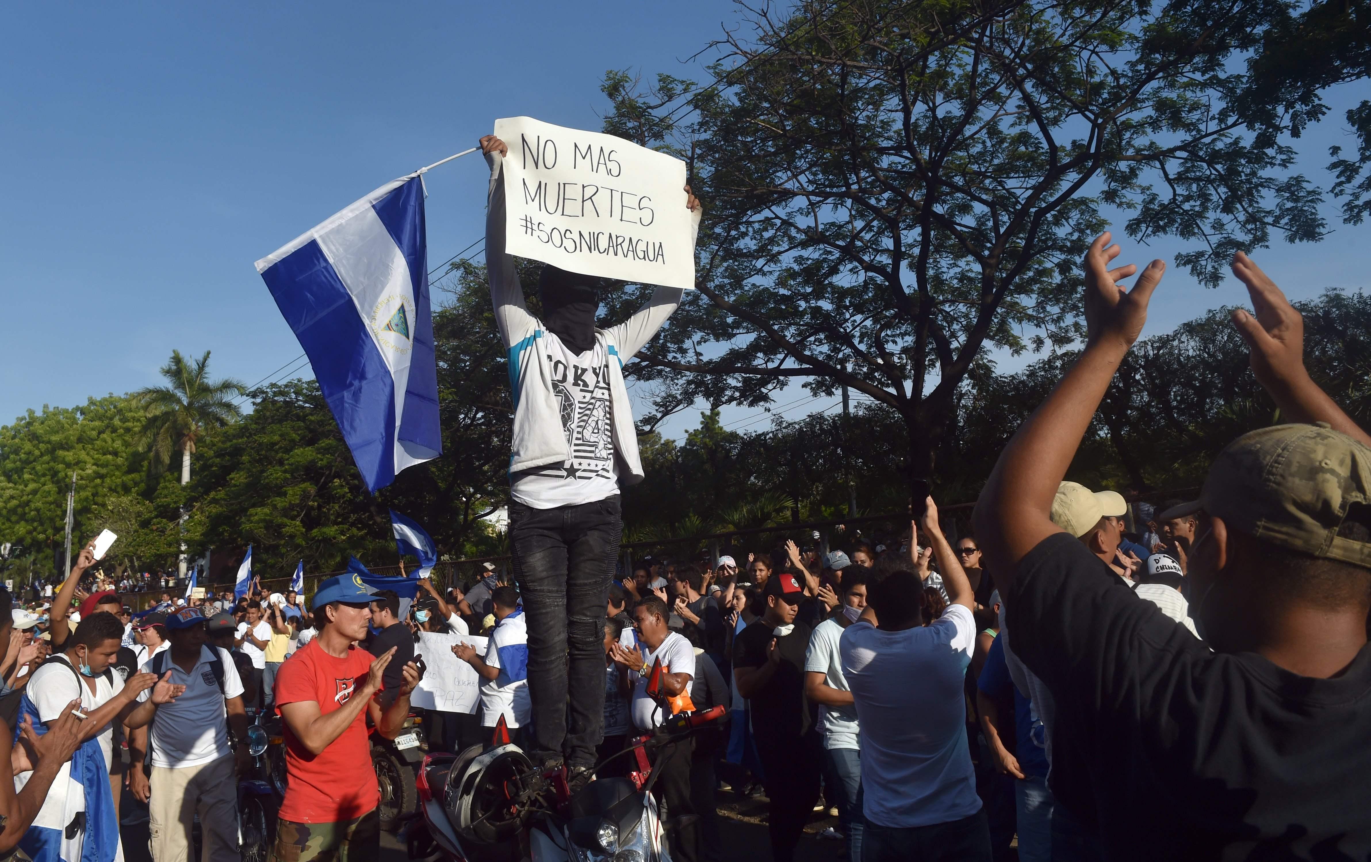 جانب من الاحتجاجات فى نيكارجوا