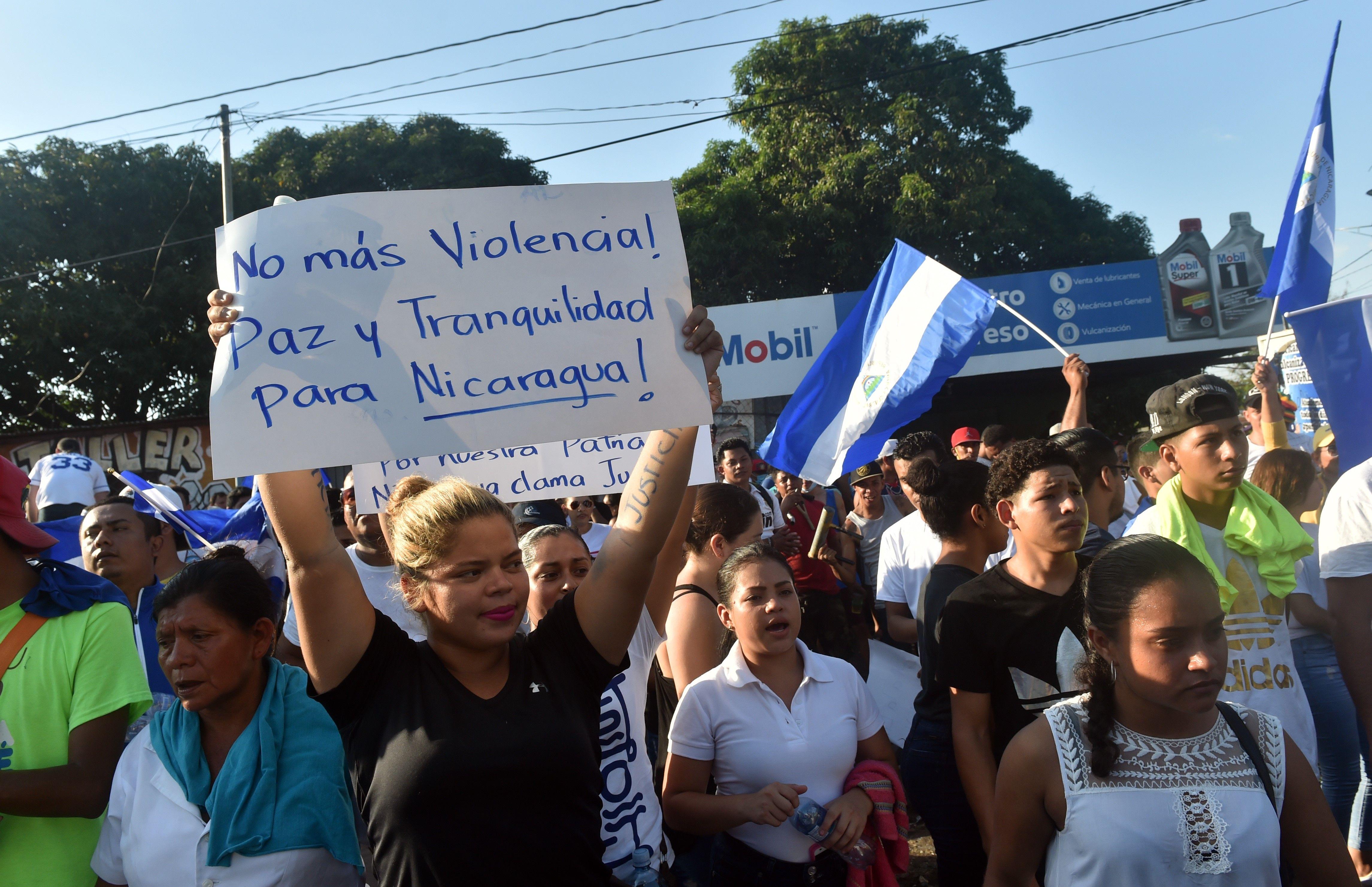 مسيرات فى نيكارجوا تطالب بتنحى الرئيس