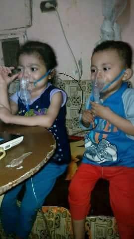 الطفلان المريضان
