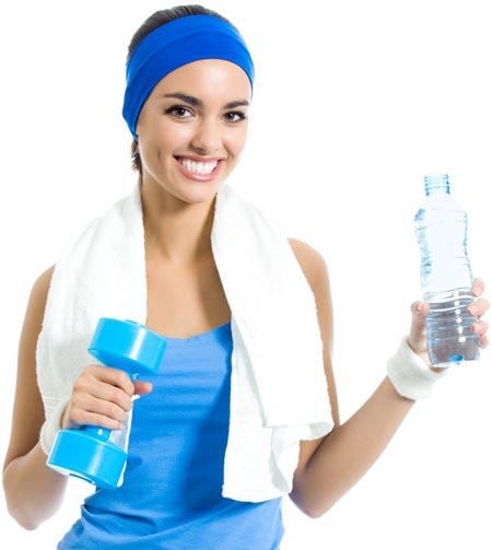 الرياضة وشرب المياه