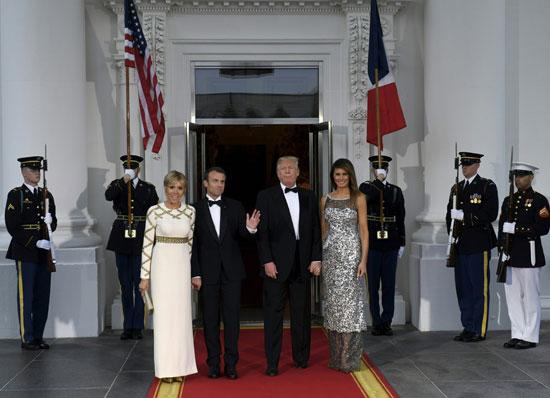 ماكرون وزوجته وترامب وزوجته