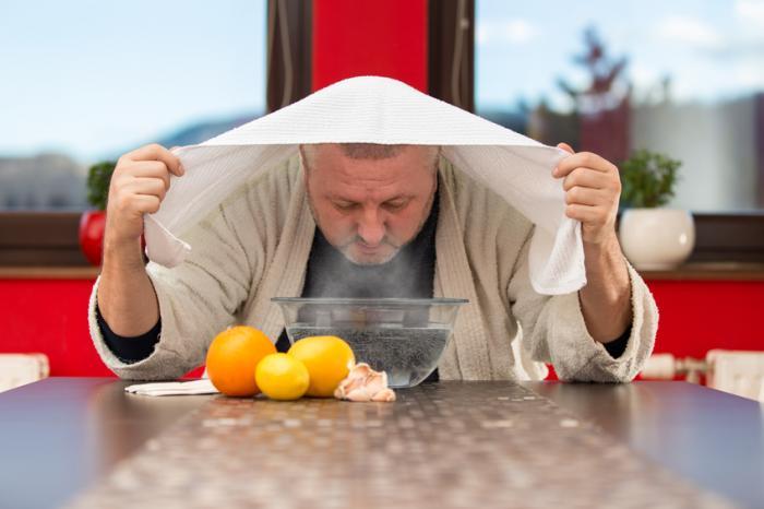 استنشاق البخار طب بديل لعلاج التهاب الشعب الهوائية