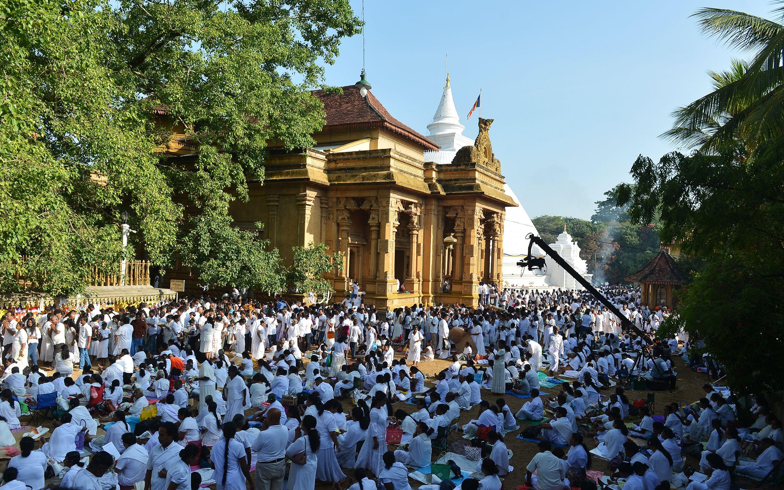 آلاف المواطنين بسريلانكا يحتفلون بذكرى ميلاد بوذا