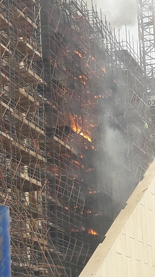 حريق اخشاب المتحف