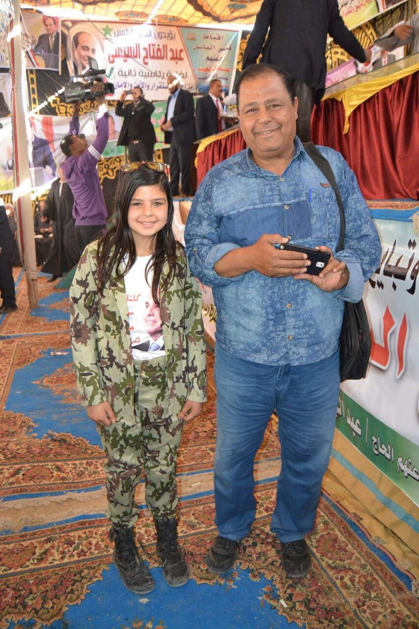 الطفلة أريج فى احدى المؤتمرات الانتخابية لتأييد الرئيس السيسى (12)