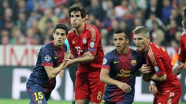 جانب من مباراة برشلونة وبايرن ميونخ فى 2013