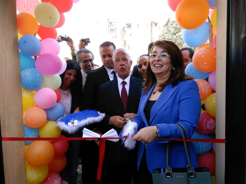 وزيرة التضامن تفتتح حضانة دامجة ومركز المطرية لرعاية أطفال التوحد (5)