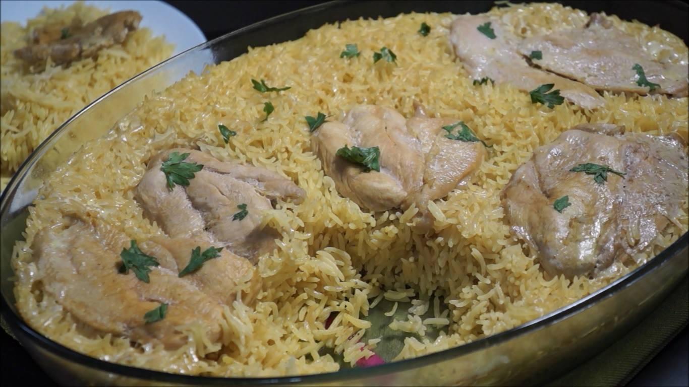 صينية أرز بالدجاج