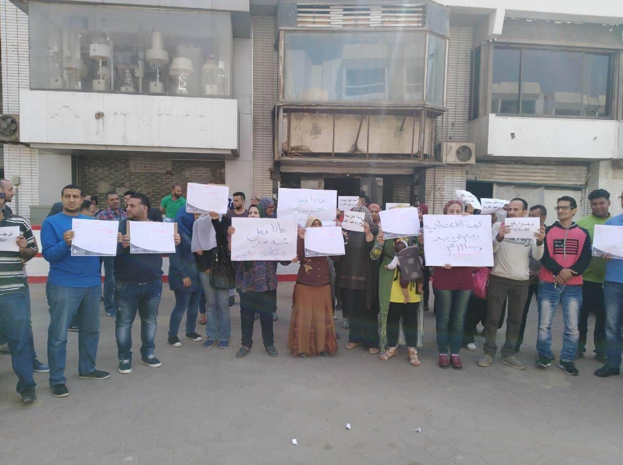 وقفة احتجاجية لعمال وموظفى الزمالك تضامنا مع الثنائى المحبوس (4)