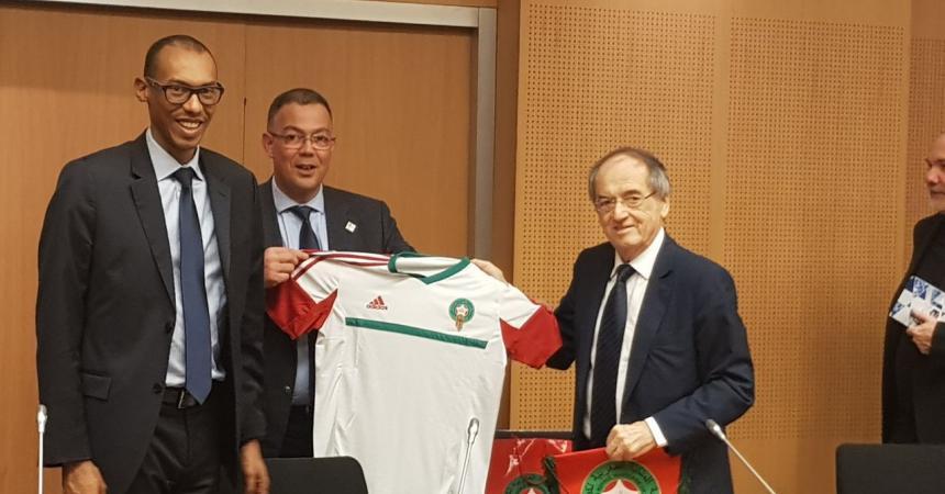 الاتحاد الفرنسى يعلن دعمه لملف المغرب لاستضافة كأس العالم 2026
