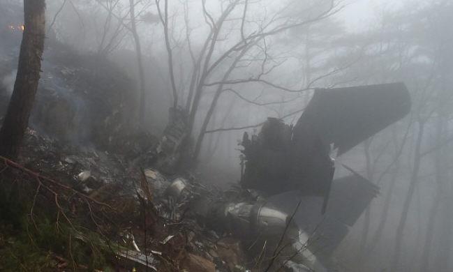 جانب من تحطم مقاتلة فى كوريا الجنوبية
