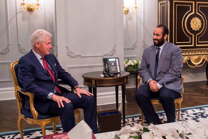 مع الرئيس الأمريكى الأسبق بيل كلينتون