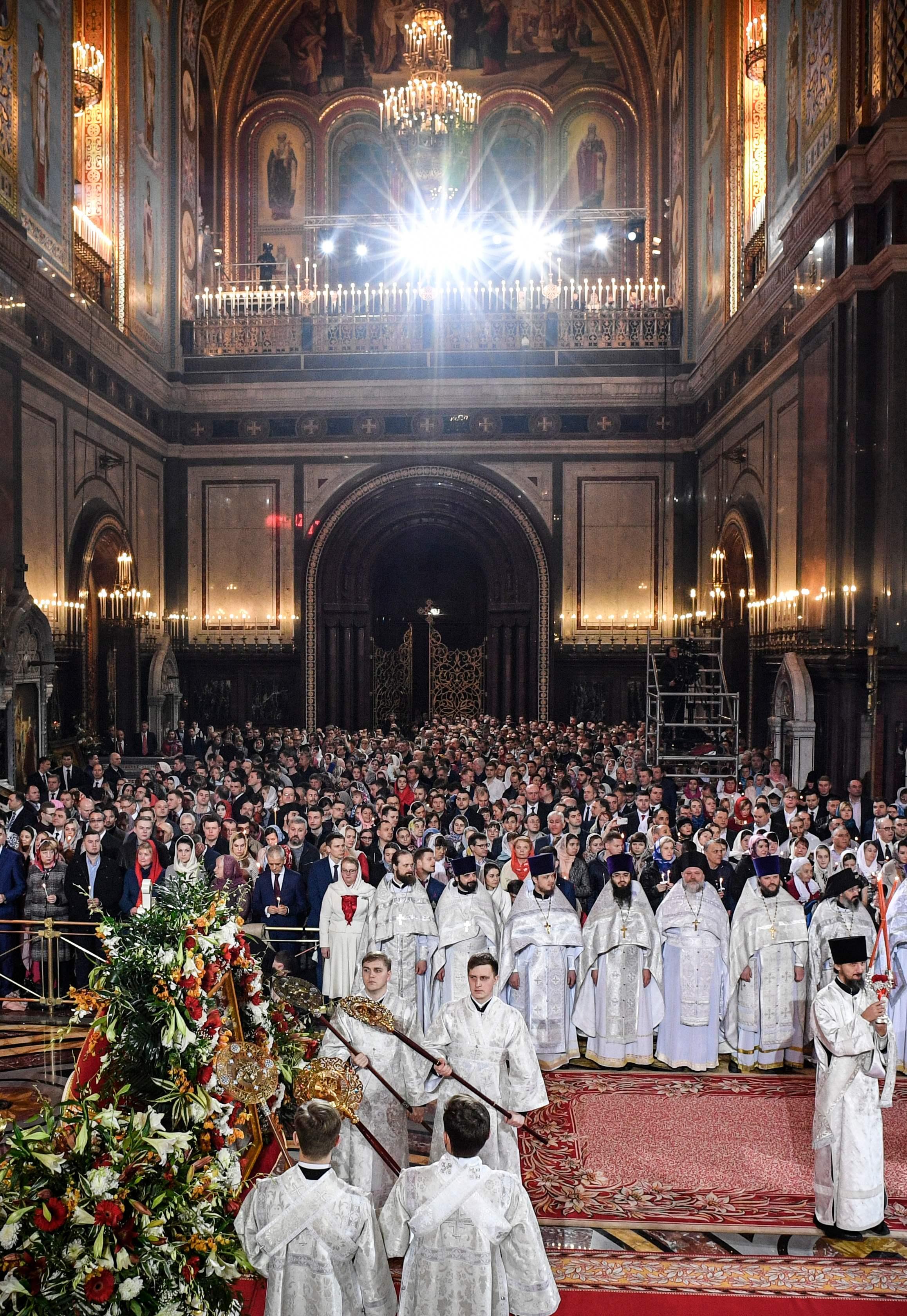 قداس عيد الفصح فى موسكو