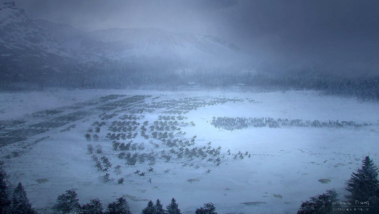 من معركة The Battle of Winterfell