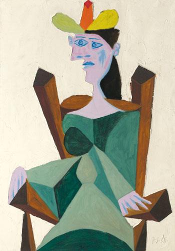 امرأة جالسة