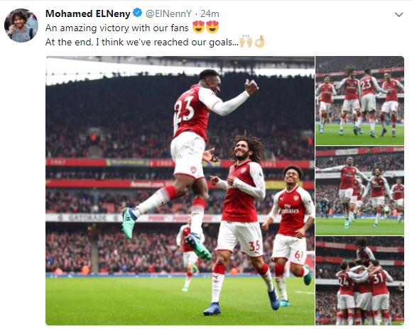 تغريدة محمد الننى