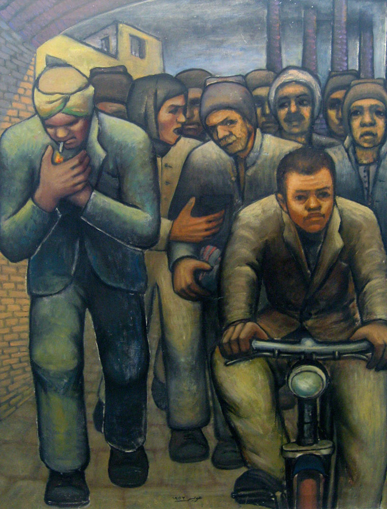 Hamed-Owais,-After-a-Working-Day,-1953,-oil-on-canvas,-99-x-80-cm,-Museum-of-Egyptian-Modern-Art-in-Cairo