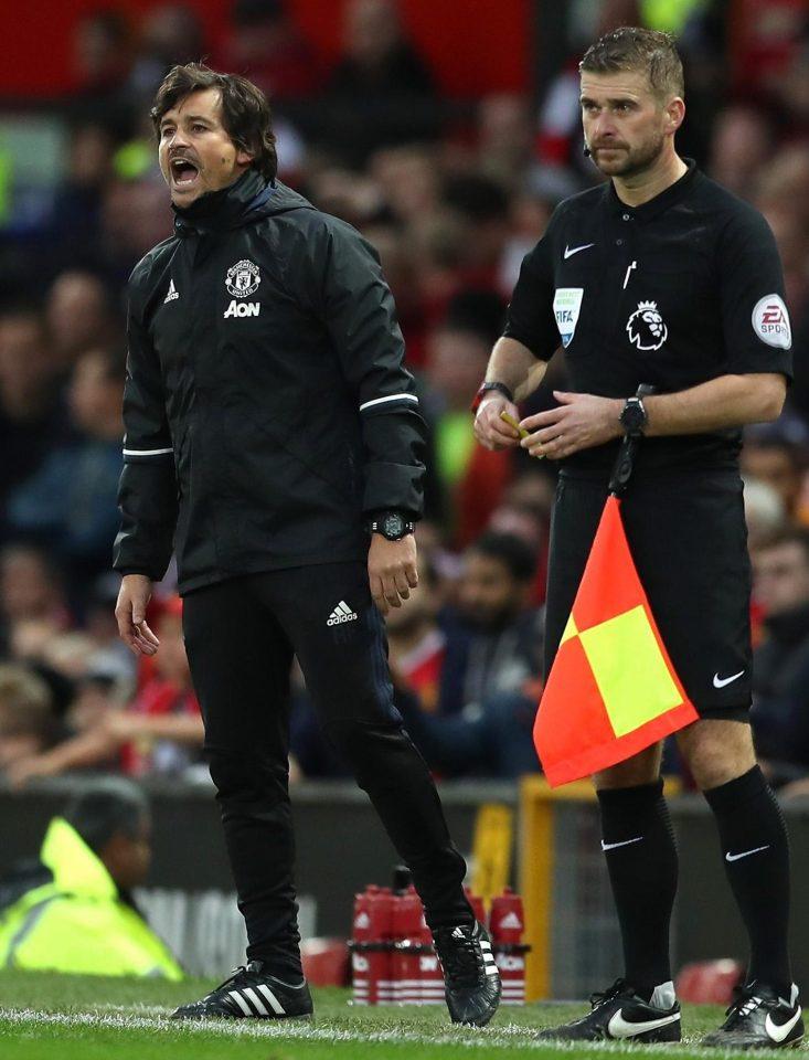روى فيريا المدرب المساعد لمانشستر يونايتد