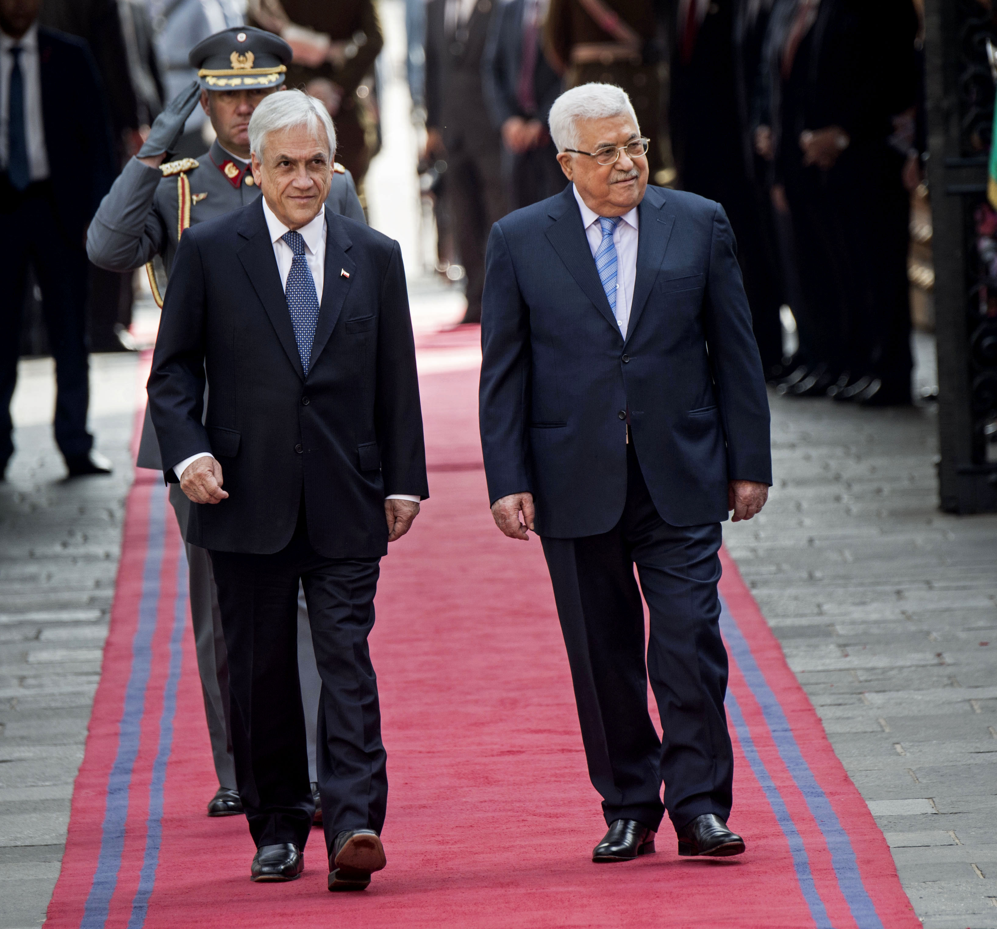 استقبال رئيس تشيلى لنظيره الفلسطينى