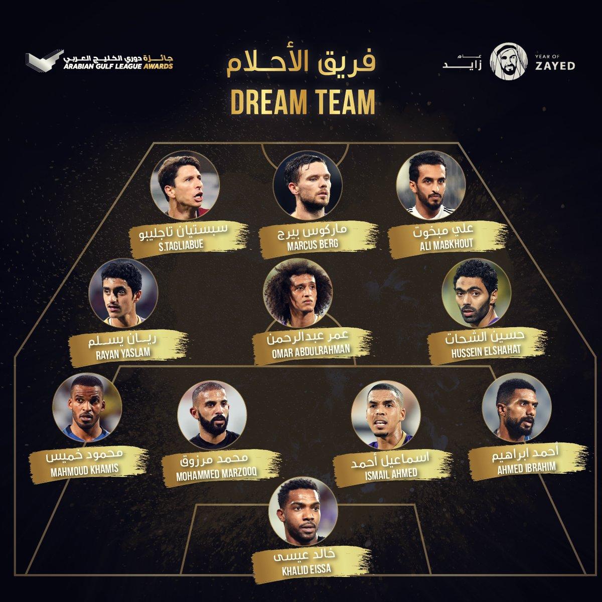 حسين الشحات يتواجد فى فريق الأحلام بالدورى الإماراتى