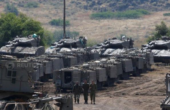 القوات الإسرائيلية فى الجولان