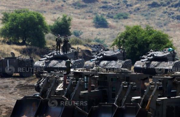جانب من تأهب عناصر الجيش الإسرائيلى فى الجولان