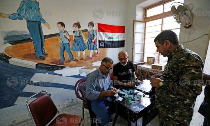الجيش العراقى يدلى بصوته