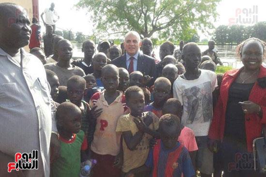 وزير الرى يحمل رسالة شفهية من السيسي لرئيس جنوب السودان (4)