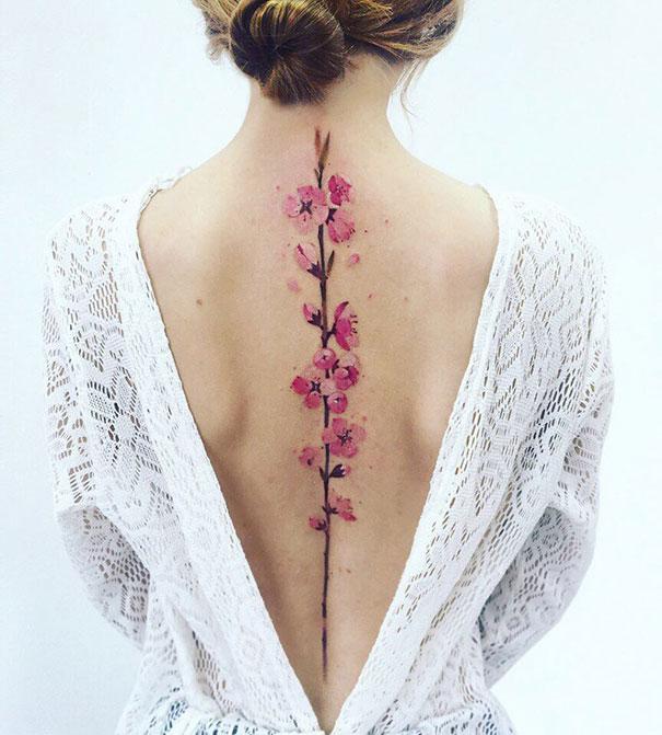 تاتو زهور