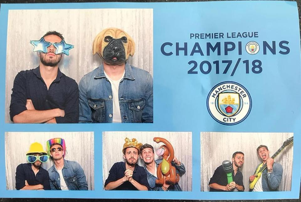 احتفالات لاعبى مانشستر سيتى